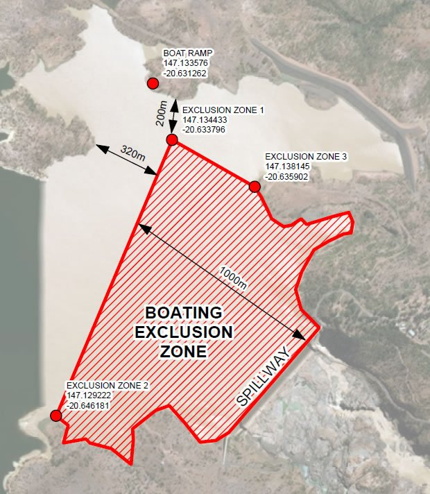 Temporary exclusion zone effective Wednesday 17 April 2019