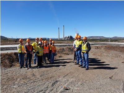 The Sunwater operations team on a site visit to Callide Power Station