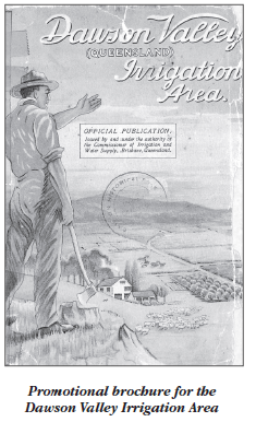 Promotional brochure for the Dawson Valley irrigation area